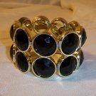 Vintage Design Bead Looking Plastic Stretch Bracelet  Bangle Black