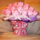 Graceful Plume surround Exquisite Origami Roses Bouquet Valentine's Day Gift