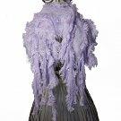 Vintage Look Ruffle Fringed Knit Soft Acrylic Scarf Shawl Wrap Laveder