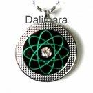 QP18 Dalimara Pendant Green w/ Swarovski Crystal