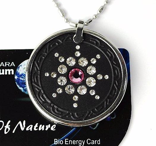 QP7 Quantum Pendant Energy 5K Negative Ion Swarovski Stone Rose October Birthday