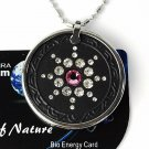 QP7 Quantum Pendant Energy 5K Negative Ion Swarovski Stone Rose October Birthday