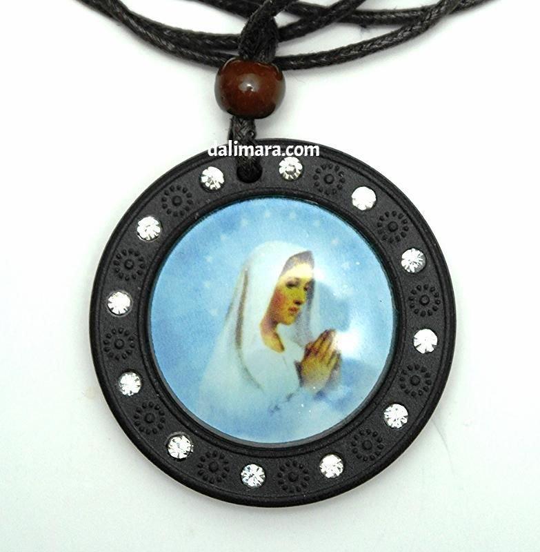 QP20 Dalimara Quantum Pendant Virgin Mary Scalar Energy Necklace w/ 12 Crystals