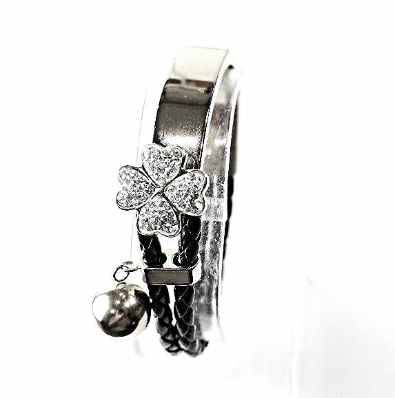 WB14S Hana Crystals Quantum Energy Power Bracelet with 4 Energies