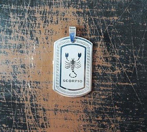 QP34 Scorpio Zodiac Quantum Pendant Dog Tag Stainless Steel