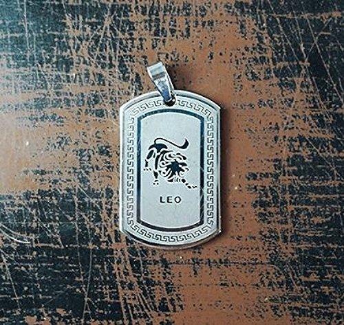QP34 Leo Zodiac Quantum Pendant Dog Tag Stainless Steel