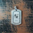 QP34 Leo Zodiac Quantum Pendant Dog Tag Stainless Steel