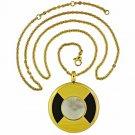 QP57 Tohoku Gold Quantum Energy Pendant Mother of Pearl