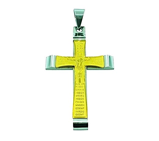 QC51 Cross Energy Power Pendant with Scripture
