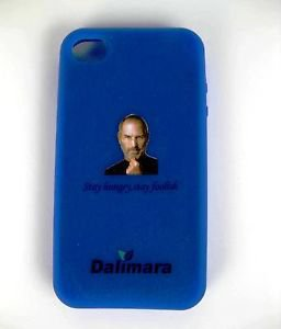 Blue Quantum Case Cover for iPhone 4 Steve's Face + Anti-radiation 1700 Neg Ions