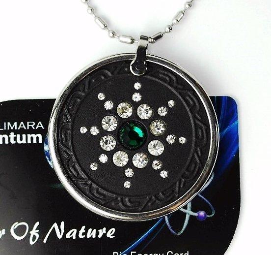QP7 Quantum Necklace Energy 5K Negative Ion Swarovski Emerald May Birthday