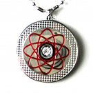 QP18 Dalimara Pendant Red with Swarovski Crystal
