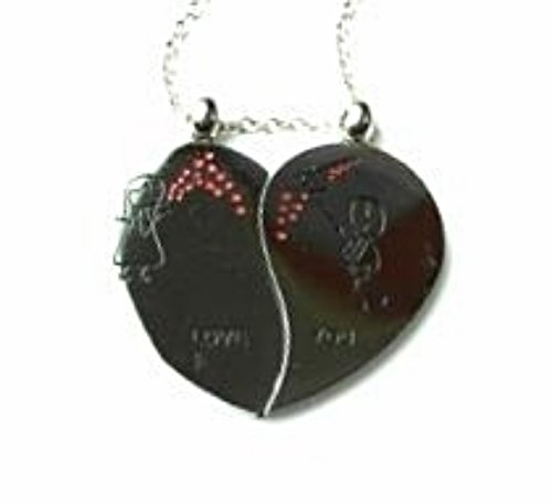 QL5 Couple's Pendant LOVE YOU Heart Necklaces with Energy