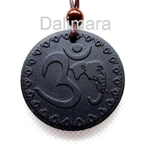 Q21 Brahman Quantum Pendant Hinduism OM AUM Lucky Symbol Scalar Energy Necklace