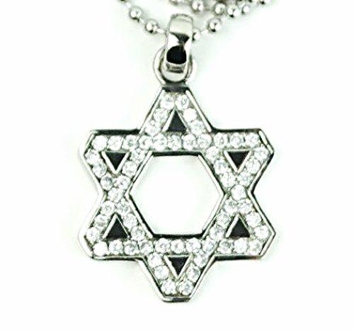 QP41 Marcasite Judaica Star of David Pendant Energy Quantum Necklace