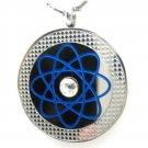 QP18 Dalimara Pendant Blue with Swarovski Crystal