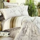 4-pc Elegant Beige Cotton Duvet Cover