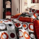 4-pc Best Orange Cotton Duvet Cover