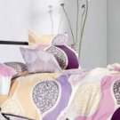 4-pc Comfortable Light Purple Floral Cotton Duvet Cover