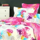 4-pc Comfortable Pink Floral Cotton Duvet Cover