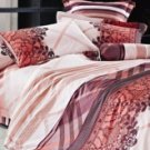 4-pc Beautiful Brown Cotton Floral Reactive Print Duvet Cover