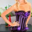 Purple Imitated Silk Lace Sexy Corset