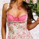 Pink Floral Chemise And Panty Set