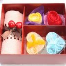 Beautiful Small Square Cotton Towel Gift Box