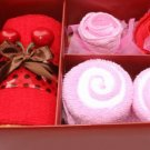 Cute Cotton Four-piece Towel Gift Box