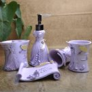 Exquisite Purple Venus Environment Friendly Resin Bathroom Sets