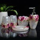 Hydrangeas Resin Environment Friendly Bathroom Sets