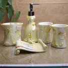 Delicate Yellow Venus Resin Environment Friendly Bathroom Sets