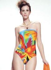 Unique Colorful 82% Chinlon 18% Spandex Womens Swimsuit