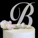 Silver Monogram Cake Topper Letters A-Z