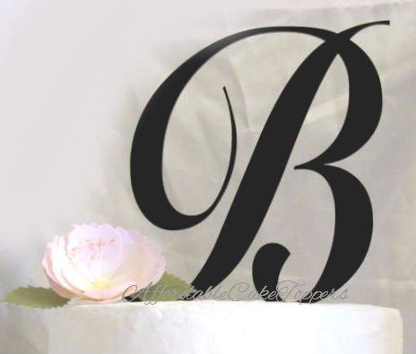 Monogram Cake Topper Letters A-Z