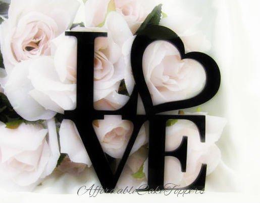 LOVE Heart Cake Topper
