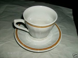 Americana Hearthside Stoneware Two Cup+Saucer Sets