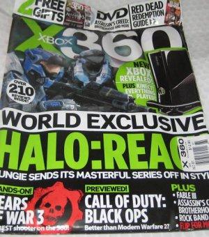 X Box 360 magazine UK Asassin Creed DVD #61Halo FABLE