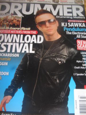 Drummer magazine Mark Richardson Arya goggin Rob Bourdon KJ Sawka Bose SABIAN