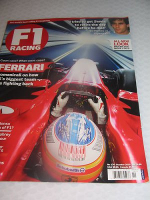 F1 racing magazine FERRARI Sid Watkins Alonso STATS