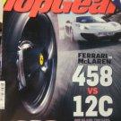 12-2 Top Gear UK magazine Ferrari McLaren 458 vs 12C corvette Muscle car