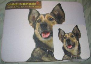 German Shepherd Dog Mousepad & 2 coaster set Littlegifts