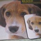 Beagle Dog Mousepad & 2 coaster set Littlegifts