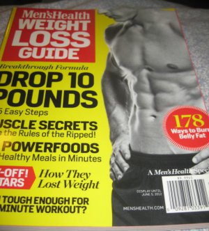 Men's Health Weight LOSS guide magazine muscle secrets powerfood belly off stars