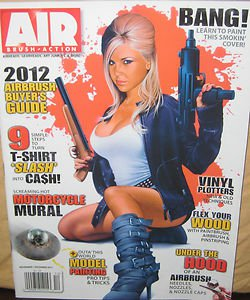 Air Brush Action 2012 Buyers Guide Vinyl Plotters Model Painting T-Shirts Bike