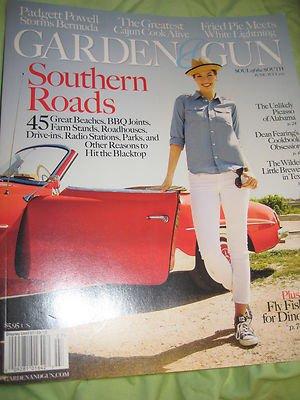 Garden & gun magazine Southern roads great beaches drive-ins BBQ joints Parks