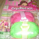Lets KNIT issue 56 July 2012 FREE crochet cushion kit cotton baby dress unicorn