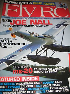 Fly RC magazine Blue ANGEL Graupner mx-20 talking12 channel radio system