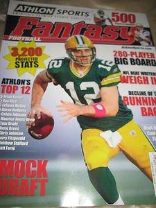 Athlon Sports Fantasy Football 2012 Magazine Top 12 Mock Draft NFL Beat writers
