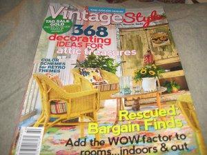 Vintage Style Country Almanac # 160 Spring 2013 bargain finds attic treasures